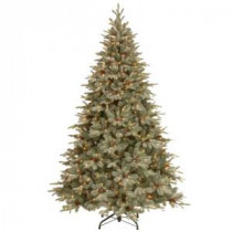 12 ft. Feel-Real Alaskan Spruce Artificial Christmas Tree with Pinecones and 1200 Clear Lights-PEFA1-307E-120X 205147029