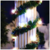 18 ft. Lighted Pine Garland with Warm White 35-Light Micro Mini Twinkling-74-450-00 204635607