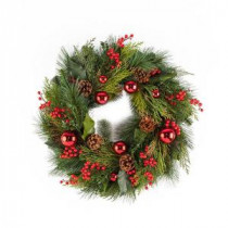 24 in. Mixed Pine Hampton Artificial Wreath-2207950 206634287