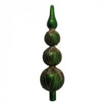 3-Tier Green Glass Tree Topper-Y3798 205982736
