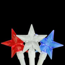 30-Light LED Red, White and Blue 4th of July Patriotic Star Lights with White Wire-28380811 207006235