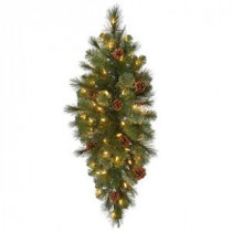 32 in. Pre-Lit LED Alexander Pine Artificial Christmas Swag x 77 Tips, 50 UL Plug-In Indoor/Outdoor Warm White Lights-GK28M5311L00 206795467