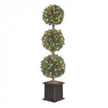 4 ft. Hudson Artificial Christmas Tree Topiary with 150 Clear Lights-TP40M2J76C00 204126328