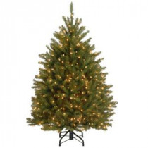 4.5 ft. Dunhill Fir Artificial Christmas Tree with 450 Clear Lights-DUH3-45LO 205983464