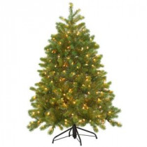 4.5 ft. Feel-Real Downswept Douglas Fir Artificial Christmas Tree with 300 Clear Lights-PEDD4-339-45 205983444