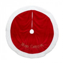 48 in. Embroidered Velvet Tree Skirt-2481633-1ZSAHC 205187682