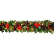 6 ft. Pre-Lit Very Berry Garland with Pine Cones-XVG119354X 206578306