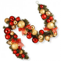 6 ft. Red and Green Ornament Garland-RAC-16002 300330553