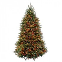 6.5 ft. Dunhill Fir Artificial Christmas Tree with 650 Multi-Color Lights-DUH3-65RLO 205982788