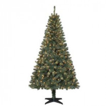 6.5 ft. Verde Spruce Artificial Christmas Tree with 400 Clear Lights-TG66M2V36C00 205080460