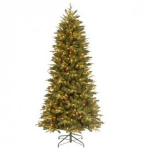 7.5 ft. Feel-Real Pomona Pine Slim Artificial Christmas Tree with 400 Clear Lights-PEPN7-329E-75X 205147032
