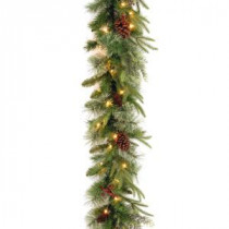 9 ft. Colonial Garland with Clear Lights-PECO4-306-9A-1 300330526
