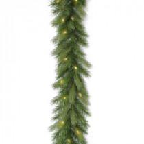 9 ft. Deerfield Fir Garland with Clear Lights-PEDE4-300-9B-1 300330538