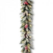 9 ft. Dunhill Fir Garland with Clear Lights-DUF-300-9A-1 300330552