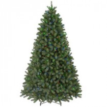 9 ft. FEEL-REAL Downswept Douglas Fir Artificial Christmas Tree with 900 Multi-Color Lights-PEDD4-325-90 204159657