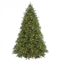 9 ft. Feel-Real Jersey Fraser Fir Artificial Christmas Tree with 1500 Clear Lights-PEJF4-300-90 204158985