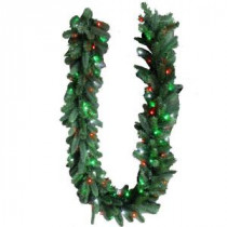 9 ft. LED Pre-Lit Branch Garland with Micro-Style Red, Green and Pure White Lights-4824106-C29HO 206771084