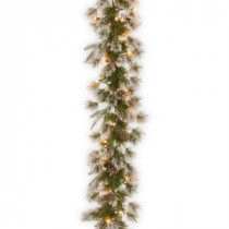 9 ft. Liberty Pine Garland with Clear Lights-PELB7-300-9A-1 300330576