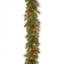 9 ft. Pine Ridge Berry Garland with Clear Lights-PR4-300-9B-1 300330543