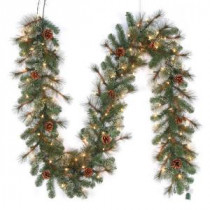 Christmas wreaths garland pre lit led alexander pine artificial christmas garland x 165 tips with aloadofball Images