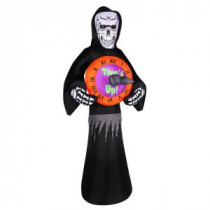 Airflowz 8 ft. Inflatable Reaper with Spinning Clock-72615 206852831
