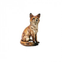 Alpine 10 in. Sitting Fox Statuary-AJY158 206212897