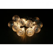 Alpine 10-Light LED Bulb Textured Edison String Light Set (Set of 10)-EUT106CL-10 207140332
