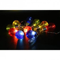 Alpine 10-Light Multi-Color LED Light Bulbs with Edison Bulb String Lights (Set of 10)-EUT104MC-10 207140330