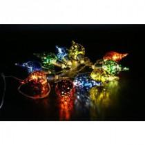 Alpine 10-Light Multi-Color Teardrop Bulbs with Light String-EUT102MC-10 207140329