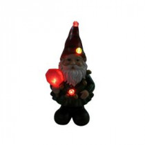 Alpine 12 in. Christmas Gnome Status with Color Changing LED Lights-ZEN208S 207140373
