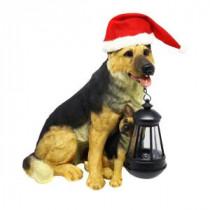 Alpine 12 in. Solar Christmas Dog Family with Motion Censored Bark-YCC152SLR 207140369