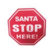 Alpine 14 in. Santa Sign Hanging Decoration with LED Lights-DEM152L 206212950