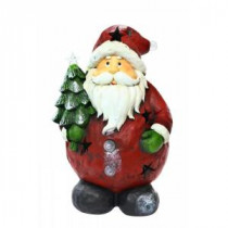 Alpine 16 in. Santa Holding Tree Statue with 4 Color Changing LED Lights-AJY334 207140308