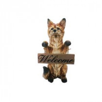 Alpine 16 in. Standing Fox with Welcome Sign Statuary-AJY160 206212918