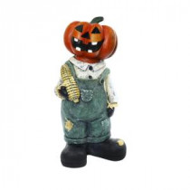 Alpine 19 in. Pumpkin Man Holding Corn Cob Halloween Decor-MCC362 207140340