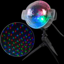 APPLights LED Projection-SnowFlurry 61 Programs Stake Light-39109 206768303