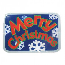 "Brite Star Battery-Operated 16 in. LED Light Show Window Sign ""Merry Christmas""-48-209-00 203541873"
