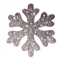 Brite Star Battery Operated 25-Light LED Spun Glitter Silver Snowflake-48-239-00 203538942