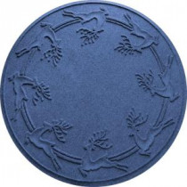 Bungalow Flooring Aqua Shield Navy 35 in. Round Reindeer Run Under the Tree Mat-20648613535 206317277