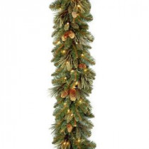 Carolina Pine 9 ft. Garland with Clear Lights-CAP3-306-9A-1 300330631