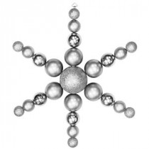 Christmas by Krebs 31 in. Silver Shatterproof Star Flake Ornament-CBK30067 204510510