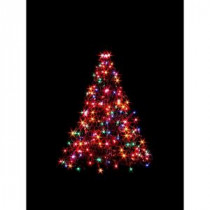 Crab Pot Trees 3 ft. Indoor/Outdoor Pre-Lit Incandescent Artificial Christmas Tree with Green Frame and 200 Multi-Color Lights-G3M 205421134