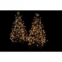 Crab Pot Trees 3 ft. Pre-Lit Incandescent Fold Flat Outdoor-Indoor Artificial Christmas Trees with 160 Clear Lights (2-Pack)-FFT-2PK-G3C 206685557