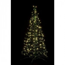 Crab Pot Trees 5 ft. Pre-Lit LED Fold Flat Outdoor/Indoor Artificial Christmas Tree with 210 Warm White Lights-FFT-G5C-LED 206685553