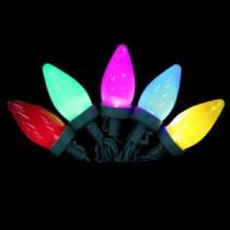 EcoSmart 25-Light LED Multi-Color C9 Ceramic Light Set-4001195W-02SHO 206803284