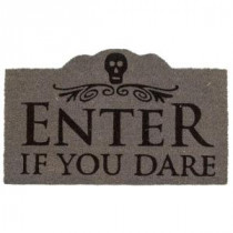 Entryways Enter if You Dare 17 in. x 28 in. Non-Slip Coir Door Mat-P2073 207050802