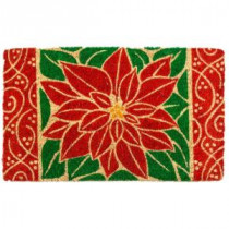 Entryways Perfect Poinsettia 18 in. x 30 in. Coir Door Mat-2083S 207050743