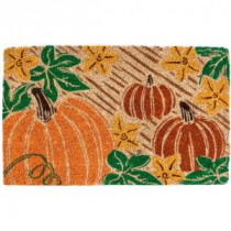 Entryways Pumpkin Patch 18 in. x 30 in. Coir Door Mat-2081 207050723