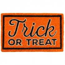 Entryways Trick or Treat 18 in. x 30 in. Coir Door Mat-2071S 207050690