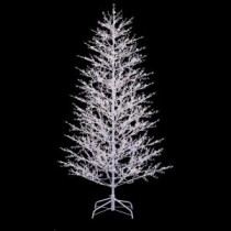 GE 7 ft. White Winterberry Branch Tree with LED Lights-21052HD 206951257